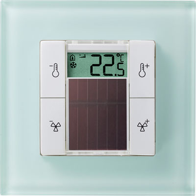 Thermokon EasySens SR06 LCD 4T в рамке Gira Esprit Glass